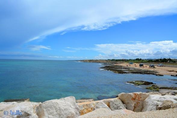 """Hier noch ein Bild von der Küste vom """"Kaffe-Strand"""" aus aufgenommen."""