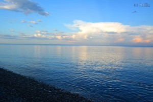 ...nach den ganzen Gewittern... Das Meer war fast ohne Wellen – nur der Wind kräuselte ein wenig die Oberfläche – Beach of Trebisacce