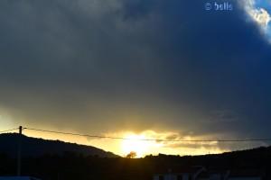 Sunset in Trebisacce – gerade eine Lücke in der Wolke erwischt!