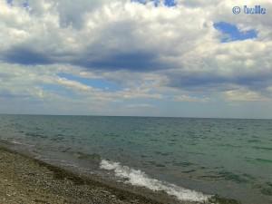 Aukommende Bewölkung am Strand von Trebisacce