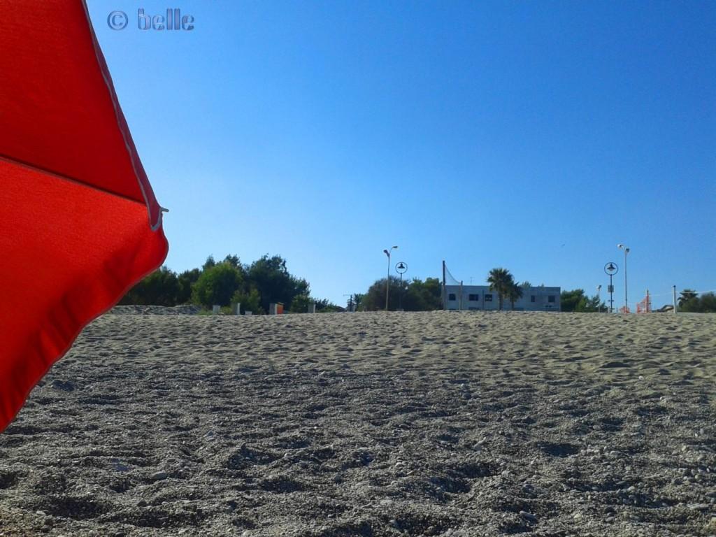 Mein Strandplatz – kann den Camper nicht sehen von hier.