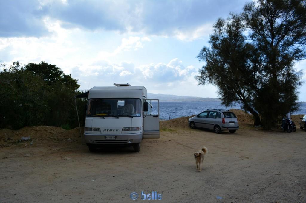 Stellplatz am Strand von Porticello