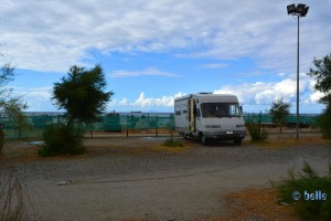 Parking directly on the Beach of Venetico-Marina