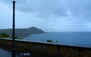 Capo Milazzo bei heftigem Regen...