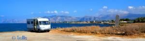 Via della Tonnara, 57, Punta Raisi PA, Italien – im Hintergrund Palermo