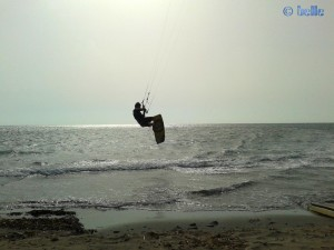 Kiter at the Beach of Marsala