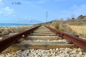 Auf dem Weg zum Traumstrand – stillgelegte Gleise