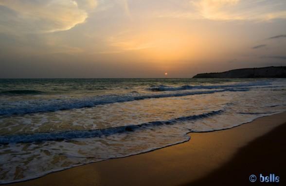 Foggy Sunset at the Beach of Eraclea Minoa