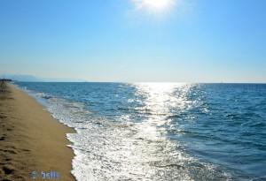 Walking back to the Camper at Beach of Nicotera Marina