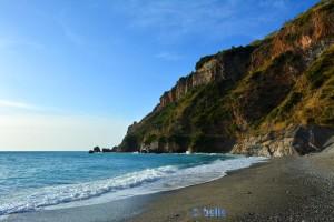 Beach and Rocks at Cetraro Marina