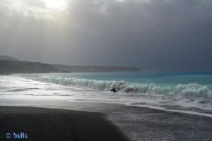 Praia a Mare with black Sand