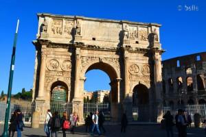 Arco di Constantino und Colosseum