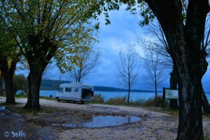 Parking at the Lago di Bolsena