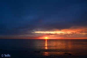 Sunset in Marina di Pisa