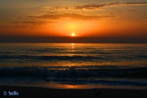 Sunset at the Dream-Beach at Marina di Torre del Lago