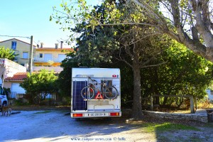 Parking in Area Sosta Camper Port Vendres – France – October 2017