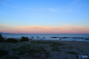 Sunset in Alicante – View to Alicante