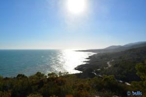 Parc Natural de la Serra D'Irta – Aussicht unterwegs zum Torre Abadum