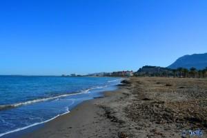 Strand von Dénia – mit Hafen und Castle von Dénia