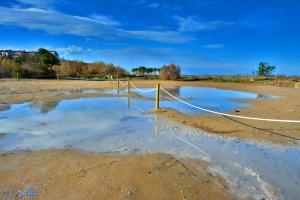 Strand-Parkplatz in Dénia noch immer unter Wasser...