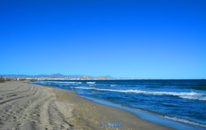 "Beach of Alicante ""Agua Amarga Playa"" - view to Alicante"
