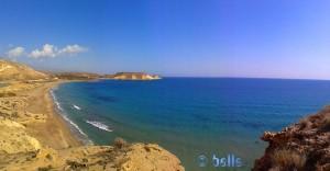 Pulpí - Andalucia - Spain - Playa de las Palmeras – aufgenommen mit der Handy-Cam als Panorama