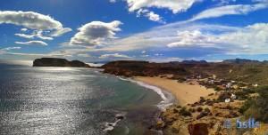 View to Playa La Higuerica and Playa La Carolina - Águlas - Murcia – Spain