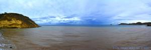 Dicke fette Wolken und braunes Wasser am Playa de las Palmeras - Spain