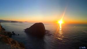 Sonnenaufgang in San Juan de los Terreros am 02. März 2015 um 07:43 Uhr