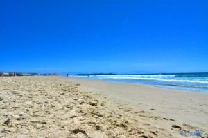 Playa de los Lances Sur – Tarifa mit der Halbinsel