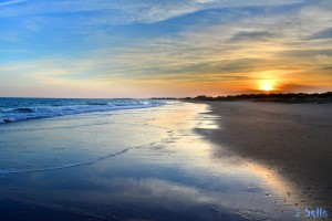 Sunset at Playa Cruce de la Redondela