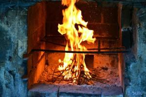 ...auch das Feuer brennt schon!