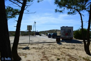 Parking at Praia da Comporta
