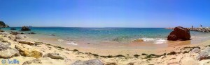 Praia da Figueirinha (kleine Bucht) bei Flut - Parque Natural da Arrábida, Portugal