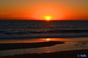 Sunset at Praia do Lagoa de Albufeira