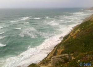 Praia da Aguda – von oben – 62 Meter über dem Meeresspiegel