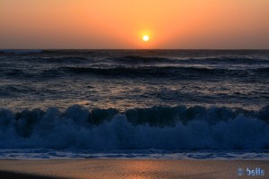 Sunset at Praia de São Lourenço - Lisboa – Portugal