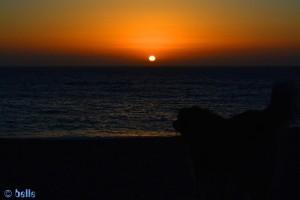 Sunset at Praia de São Lourenço