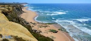 View to Santa Cruz - Praia do Seixo - N247, Portugal
