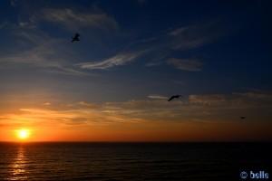 Sunset at Praia do Seixo