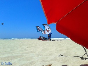 Kiter at Praia de Costa de Lavos