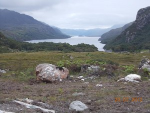 Parking on  Loch Maree – July 2012