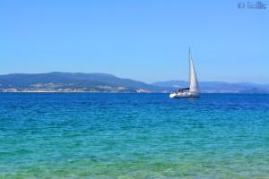 Sailing-Boat at Cabo de Udra - Praia de Mourisca