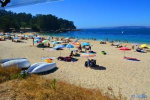 Gut besucht gestern am Samstag, 27. Juni 2015 bei Traum-Temperaturen von 29°C – Playa de Mourisca