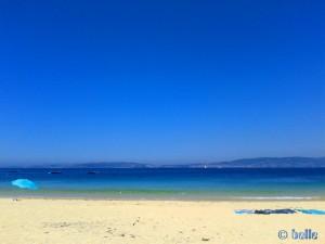 Meine Aussicht von meinem Strand-Platz – Playa de Mourisca