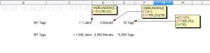 Zeitberechnung mit Excel funktioniert bestens, wie man an den nachfolgenden Kommastellen sieht!