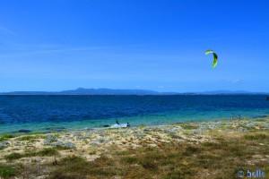 Kiter at Playa las Pipas - Reboredo - Unnamed Rd, 36988 O Grove, Pontevedra, Spanien