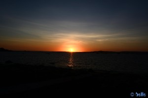 Sunset at Playa las Pipas - Reboredo - Unnamed Rd, 36988 O Grove, Pontevedra, Spanien