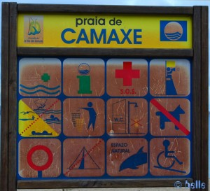 Praia de Camaxe - Hunde sind hier nicht willkommen