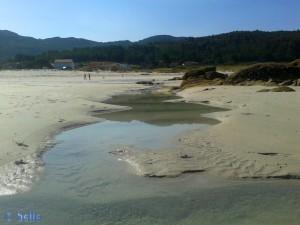 Little River of Praia de Carnota